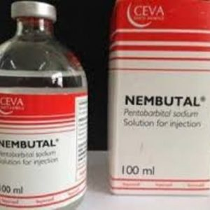 Ceva 100ml Nembutal Pentobarbital sodium solution for injectionand oral bottle
