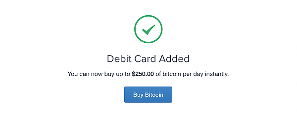 Debit card to purchase bitcoin confirmation